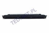 "Patch panel UTP 19"" 24 porty kat.6 (z organizerem kabli)"