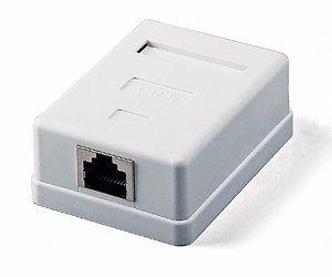 Gniazdo 1xRJ45 ALANTEC, natynkowe, białe, ekranowane kat.5e