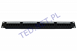"Patch panel UTP 19"" 24 porty kat.5e"