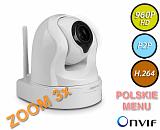 Kamera IP Foscam FI9826P - 1,3Mpix, audio, WiFi, P2P, podczerwień, obrotowa (Pan/Tilt), zoom 3x -biała