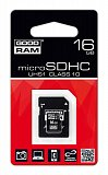 Karta pamięci microSD 16GB GOODRAM UHS1 class 10 + adapter