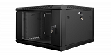 """Szafa rack Lanberg 19"""" 6U/600mm drzwi szklane, wisząca, czarna (WF01-6606-10B)"""
