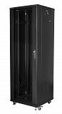 """Szafa rack Lanberg 19"""" 37U/600x600mm drzwi szklane, stojąca, czarna (FF01-6637-12B)"""