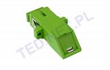 Adapter SC/APC SM simplex, flap (z klapką zabezpieczającą)