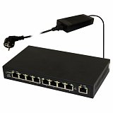 Switch PoE Pulsar S98 - 9 portowy, 8 portów PoE 802.3af