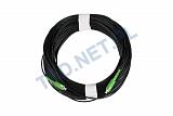 Patchcord optyczny zewnętrzny OPTIX AirFlow DROP S-QOTKSdD SC/APC-SC/APC simplex SM 9/125 - 50m