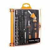 Zestaw bitów i nasadek TOOL.BOX DBTB-6108 (74 elementy, 2x rękojeść, adapter, przedłużka)