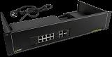 """Switch PoE Pulsar RSF108 - 10 portowy, 8 portów PoE 802.3af, 2 porty Gigabit, 2 porty SFP, do szafy rack 19"""""""
