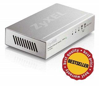Switch ZyXEL ES-105A - 5 portowy, QoS, metalowa obudowa