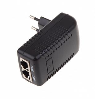 Zasilacz PoE 24V 1A z LED (impulsowy)