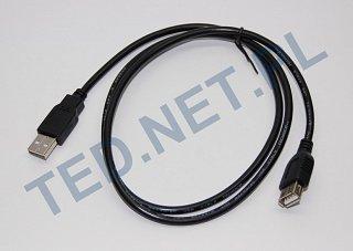Przedłużacz USB A wtyk - A gniazdo - 1m - czarny