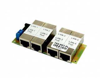 Adapter PoE - 4 porty LAN, 4 porty PoE