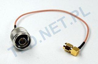 Pigtail Nm - RPSMA (kątowy)
