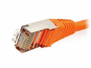 Patchcord FTP kat. 5e - 2m - pomarańczowy