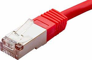 Patchcord FTP kat. 5e - 2m - czerwony