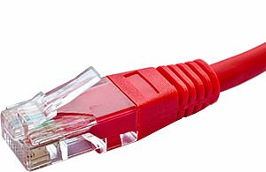 Patchcord UTP kat. 5e - 0,5m - czerwony