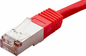 Patchcord FTP kat. 5e - 0,5m - czerwony