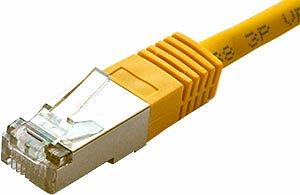 Patchcord FTP kat. 5e - 0,5m - żółty