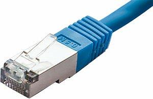 Patchcord FTP kat. 5e - 0,5m - niebieski