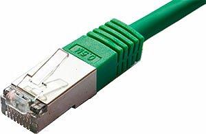 Patchcord FTP kat. 5e - 0,5m - żielony