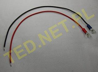 Kabel do podłączenia akumulatora - wtyk oczkowy