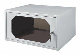 """Szafa rack 19"""" 6U/350mm drzwi szklane, wisząca"""