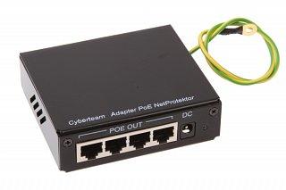 Adapter PoE 4-portowy z Netprotectorem (w obudowie)