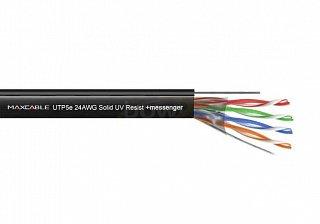 Kabel UTP MAXCABLE zewnętrzny, z linką nośną Cu kat. 5e 1mb