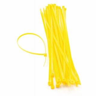 Opaski zaciskowe żółte (UV) - 100 x 2,5mm