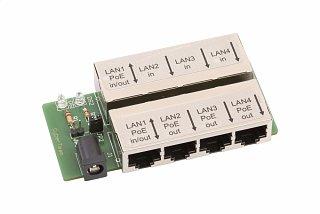 Adapter MultiPoE - 4 porty (zasilanie z portu LAN!)