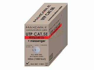 Kabel UTP MAXCABLE zewnętrzny, z linką nośną Cu kat. 5e 305m