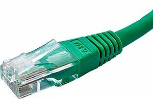 Patchcord UTP kat. 5e - 0,25m - zielony
