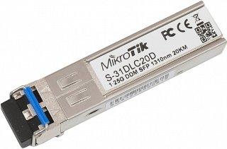 Moduł SFP miniGBIC RouterBOARD S-31DLC20D, DF, 1.25Gbps, SM, LC, 20km