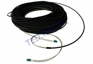 Patchcord optyczny zbrojony, zewnętrzny OPTO LC/UPC-LC/UPC duplex SM 9/125 - 100m