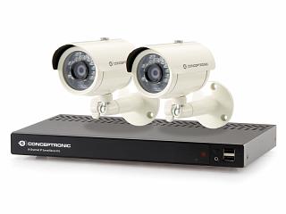 Zestaw do monitoringu IP Conceptronic C8CHIPSKIT (2 kamery 2Mpix + rejestrator 8-kanałowy)