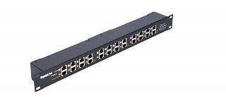 """Patch panel PoE Gigabit 19"""" 1U - 12 portów"""