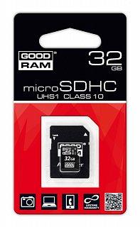 Karta pamięci microSD 32GB GOODRAM UHS1 class 10 + adapter