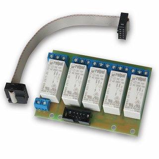 Płytka z przekaźnikami 16A (5szt.) do restartera GSM lub kontrolera LAN