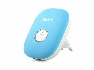 Wzmacniacz sygnału WiFi, repeater Netis E1+ (niebieski)