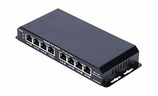Switch PoE Extralink Gigabit - 8 portowy (7 portów PoE), zasilacz 60W