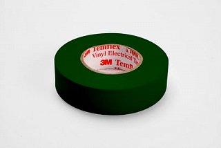 Taśma izolacyjna 3M Temflex 1300 19mm 20mb - zielona