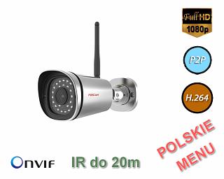 Kamera IP Foscam FI9900P - 2Mpix, audio, WiFi, P2P, podczerwień, IP66