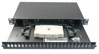"""Przełącznica światłowodowa WT-3031C 19"""" 1U 24xSC Simplex, wysuwana"""