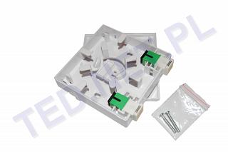 Przełącznica światłowodowa abonencka Extralink - 2 x adapter SC/APC