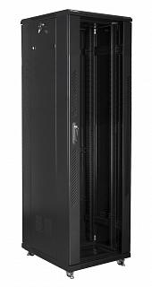 """Szafa rack Lanberg 19"""" 42U/600x800mm drzwi szklane, stojąca, czarna (FF01-6842-12B)"""