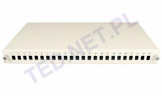 """Przełącznica światłowodowa Tracom 19"""" 1U 24xSC Simplex (2xP4112 v.2)"""
