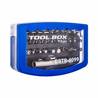 Zestaw bitów 6,3mm TOOL.BOX DBTB-6099 (30 elementów, adapter)