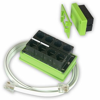 Splitter RJ11/RJ12 (1-Wire/I2C) czujnika DS18B20 i AM2320 - do kontrolera LAN