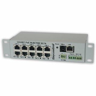 Gigabit PoE Injector 5G7A-M (Gigabitowy adapter PoE z Kontrolerem LAN)