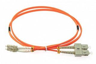 Patchcord optyczny OPTON SC/UPC-LC/UPC duplex MM 62,5/125 - 1m